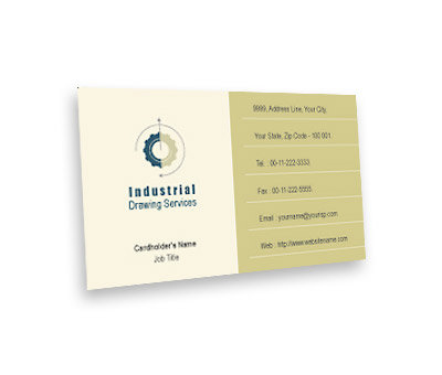 Online Business Card printing Industrial Drawing
