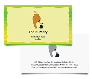 Business Card printing Plants Nursery