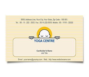 Business Card printing Yoga Studio
