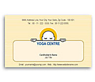 Online Business Card printing Yoga Studio