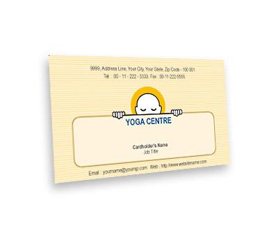Online Business Card printing Yoga Studio