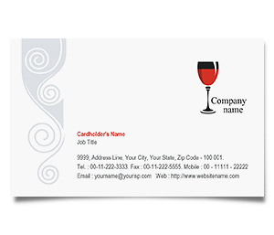 Business Card printing Pub Bar
