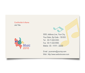 Business Card printing Music Zone