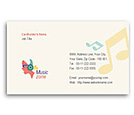 Online Business Card printing Music Zone