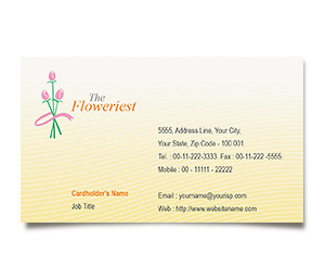 Business Card printing Florist Shop
