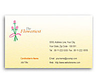 Online Business Card printing Florist Shop