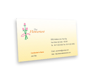 Online Business Card printing Florist Shop