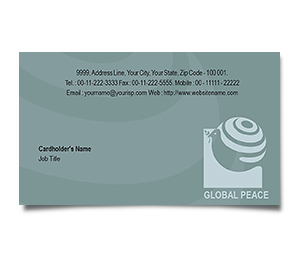 Business Card printing Global Peace Unity