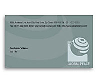 Online Business Card printing Global Peace Unity