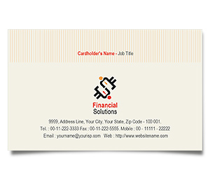 Business Card printing Finance Management