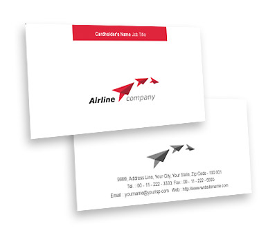Online Business Card printing International Air Travel