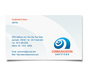 Business Card printing Satelite Telephone