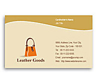 Online Business Card printing Leather Fashion