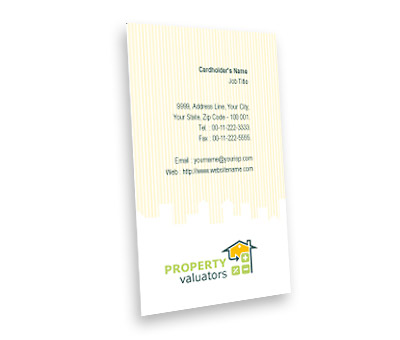 Online Business Card printing Property Valuation