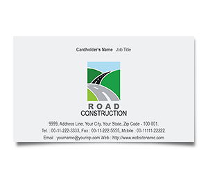 Business Card printing Road Construction