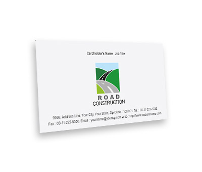Online Business Card printing Road Construction