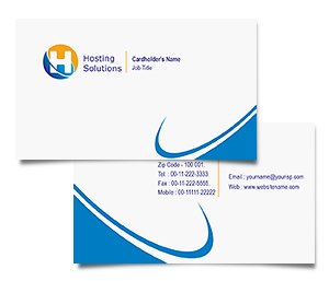 Business Card printing Hosting Package