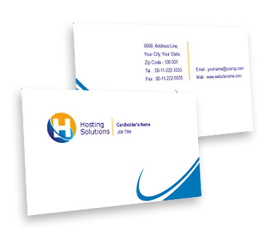 Online Business Card printing Hosting Package