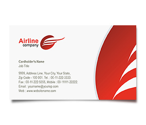 Business Card printing Airlines Travel