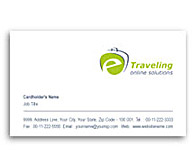 Online Business Card printing E-Travel