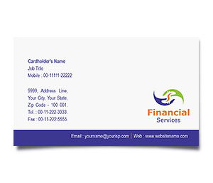 Business Card printing Finance Analyst