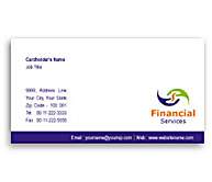 Online Business Card printing Finance Analyst