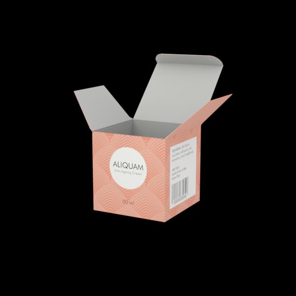 Online Custom Boxes printing Anti Ageing Cream Box - 2.6X2.6X2.6