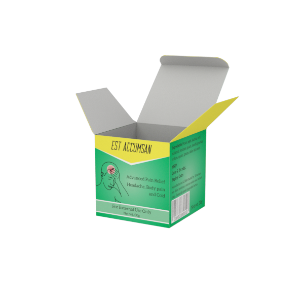 Online Custom Boxes printing Pain Relief Cream Box - 2.6X2.6X2.6