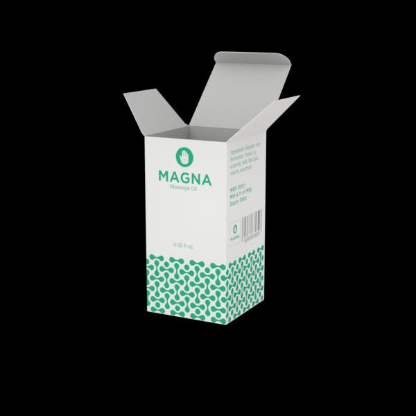 Online Custom Boxes printing Massage Oil Box- 2.5X2.5X5