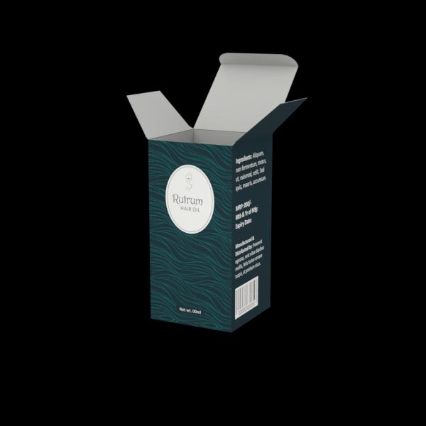 Online Custom Boxes printing Hair Oil Box- 2.5X2.5X5