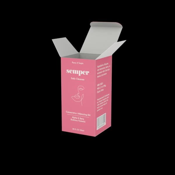 Online Custom Boxes printing Cleanser Box- 2.5X2.5X5