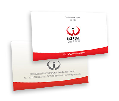 Online Business Card printing Cars & Bikes
