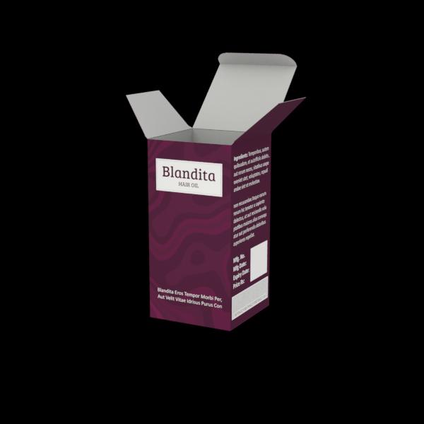 Custom Boxes printing Hair Oil Box- 2.5X2.5X5