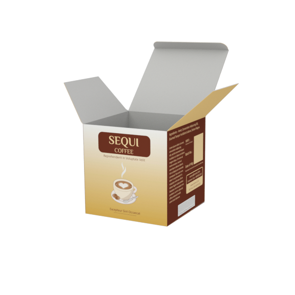 Online Custom Boxes printing Coffee Beans  - 4X4X4