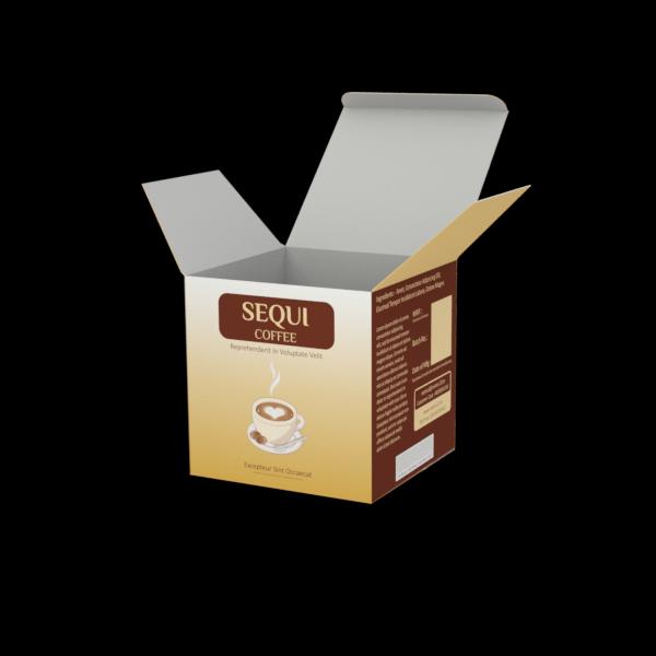 Online Custom Boxes printing Coffee Beans  - 4X4X4
