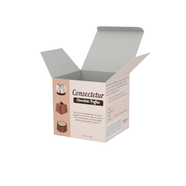 Online Custom Boxes printing Truffles Box- 4X4X4