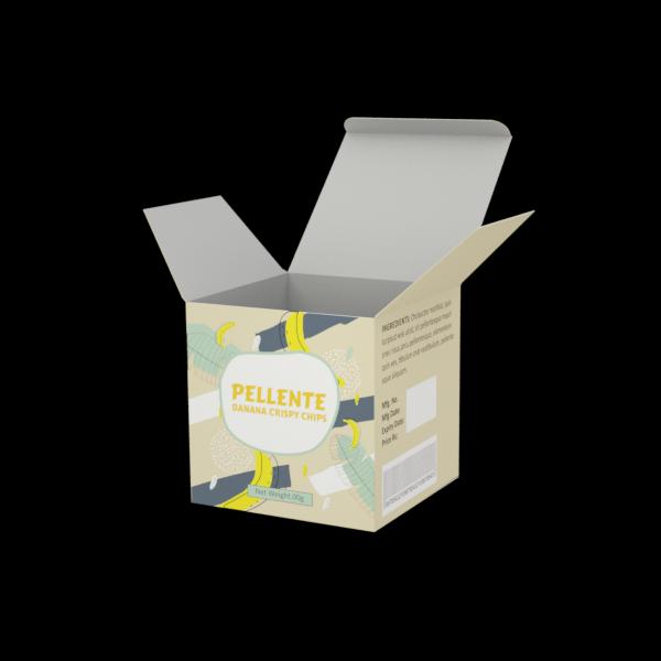 Online Custom Boxes printing Chips Box- 4X4X4