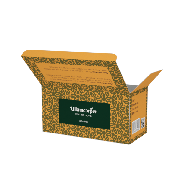 Custom Boxes printing Tea Box - 6X2.8X3