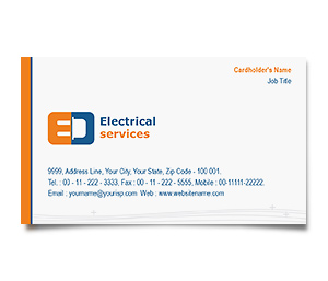 Business Card printing Electrical Services