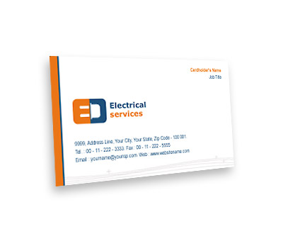 Business card design for electrical services offset or digital printing online business card printing electrical services reheart Choice Image