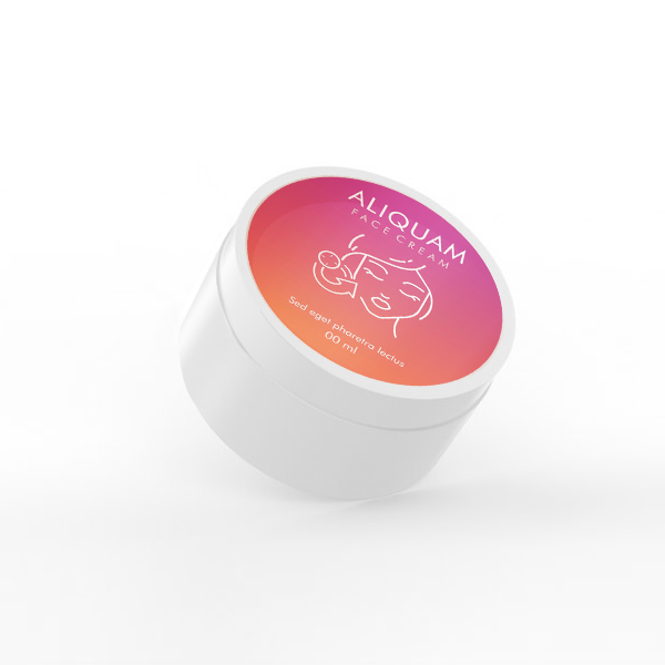 Online Labels printing Round Label for Face Cream Jar