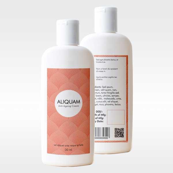 Labels printing Anti aging cream label