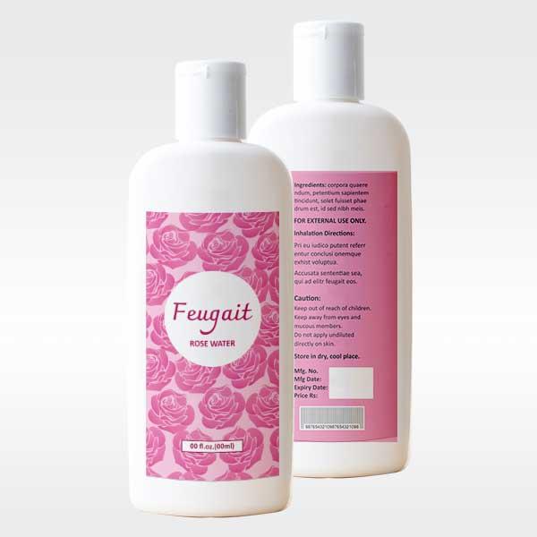 Online Labels printing Rosewater Bottle Label