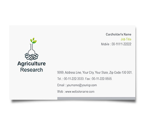 Business Card printing Agricultural Research Council