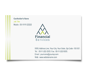 Business Card printing Equity Finance