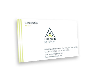 Online Business Card printing Equity Finance