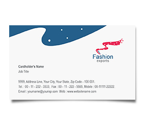 Business Card printing Fashion Export