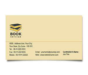 Business Card printing Library Book Sale