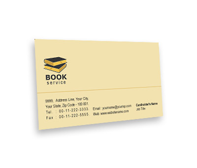 Business card design for library book sale offset or digital printing online business card printing library book sale reheart Image collections