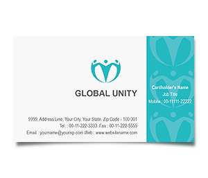 Business Card printing Global Unity